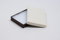 (#53) 5-1/4 x 3-3/4 x 7/8 COFFEE & CREAM JEWELRY BOXES