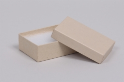 (#32) 3-1/16 x 2-1/8 x 1 OATMEAL GROOVE JEWELRY BOXES
