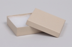 (#33) 3-1/2 x 3-1/2 x 1 OATMEAL GROOVE JEWELRY BOXES