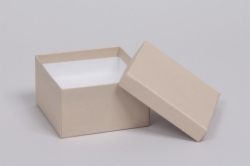 (#34) 3-1/2 x 3-1/2 x 2 OATMEAL GROOVE JEWELRY BOXES