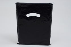 9 x 12 BLACK SUPER GLOSS PLASTIC BAGS