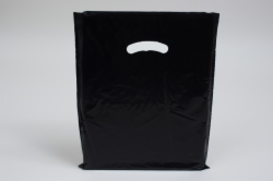 12 x 15 BLACK SUPER GLOSS PLASTIC BAGS