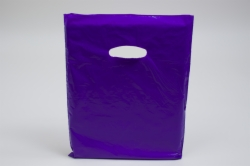12 x 15 PURPLE SUPER GLOSS PLASTIC BAGS