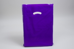 15 x 18 x 4 PURPLE SUPER GLOSS PLASTIC BAGS