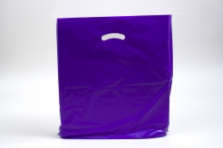 20 x 20 x 5 PURPLE SUPER GLOSS PLASTIC BAGS