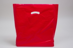18 x 18 x 4 RED SUPER GLOSS PLASTIC BAGS