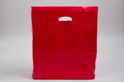 20 x 20 x 5 RED SUPER GLOSS PLASTIC BAGS