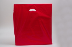 24 x 24 x 5 RED SUPER GLOSS PLASTIC BAGS