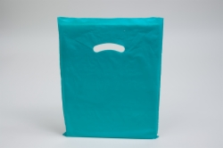 15 x 18 x 4 TEAL SUPER GLOSS PLASTIC BAGS