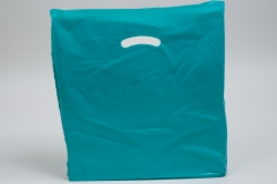 18 x 18 x 4 TEAL SUPER GLOSS PLASTIC BAGS