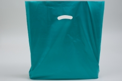 20 x 20 x 5 TEAL SUPER GLOSS PLASTIC BAGS