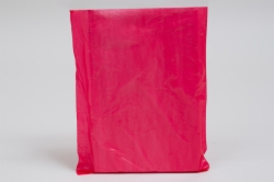 8.5 x 11 RED SATIN HIGH DENSITY PLASTIC BAGS