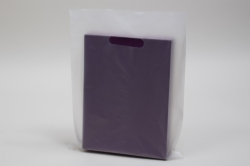 12 x 15 CLEAR FROSTED PLASTIC MERCHANDISE BAGS - 2.25 mil
