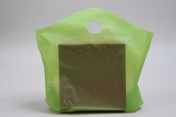 18 x 15 x 6 CITRUS GREEN FROSTED WAVETOP PLASTIC BAGS