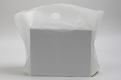 22 x 18 x 8 CLEAR FROSTED WAVETOP PLASTIC BAGS