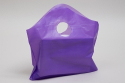 12 x 11 + 4 GRAPE FROSTED WAVETOP PLASTIC BAGS - 2 mil