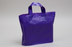12 x 10 x 4 GRAPE FROSTED SOFT LOOP HANDLE PLASTIC BAGS