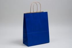 10 x 5 x 13 MATTE PARADE BLUE COLOR TINTED KRAFT PAPER SHOPPING BAGS