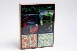 "9.875 X 7.5 X 1.375"" NATURAL KRAFT CLEAR LID GIFT BOXES"