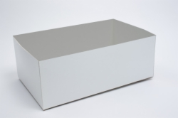16 x 10 x 3 WHITE GLOSS HI-WALL GIFT BOX BASES *LIDS SOLD SEPARATELY*
