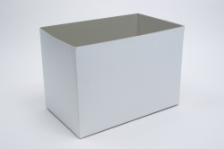 19 x 12 x 6 WHITE GLOSS HI-WALL GIFT BOX BASES *LIDS SOLD SEPARATELY*