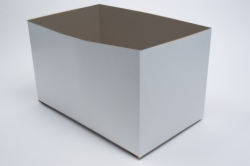 16 x 10 x 9 WHITE GLOSS HI-WALL GIFT BOX BASES *LIDS SOLD SEPARATELY*