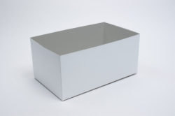 19 x 12 x 3 WHITE GLOSS HI-WALL GIFT BOX BASES *LIDS SOLD SEPARATELY*