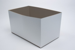 16 x 10 x 6 WHITE GLOSS HI-WALL GIFT BOX BASES *LIDS SOLD SEPARATELY*