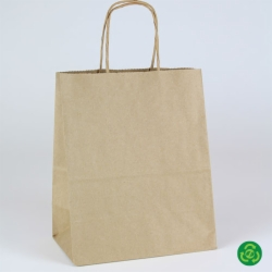 8 x 4.75 x 10.5 ECONOMY NATURAL KRAFT PAPER SHOPPING BAGS