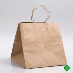 10 x 10 x 10 ECONOMY NATURAL KRAFT PAPER SHOPPING BAGS