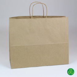 16 x 6 x 13 ECONOMY NATURAL KRAFT PAPER SHOPPING BAGS