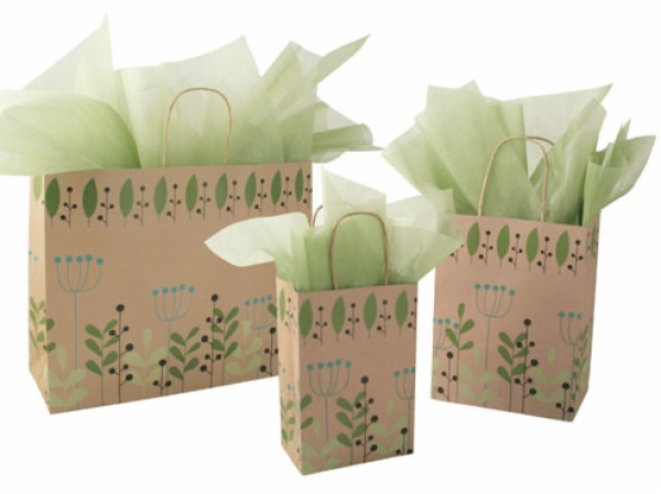 Leaves & Berries Paper Shopping Bag