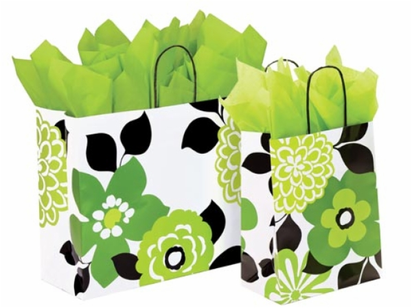 Bold Floral Paper Shopping Bag