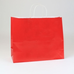 16 x 6 x 13 RED ULTRA GLOSS PAPER SHOPPING BAGS