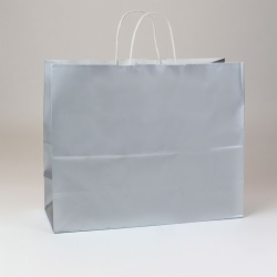16 x 6 x 13 SILVER ULTRA GLOSS PAPER SHOPPING BAGS
