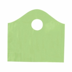 12 x 11 x 4 CITRUS GREEN FROSTED WAVETOP PLASTIC BAGS
