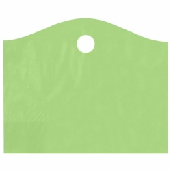 22 x 18 x 8 CITRUS GREEN FROSTED WAVETOP PLASTIC BAGS