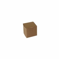 4 x 4 x 4 NATURAL KRAFT ONE-PIECE BAKERY BOXES