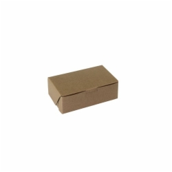 6.25 x 3.75 x 2.12 NATURAL KRAFT ONE-PIECE BAKERY BOXES
