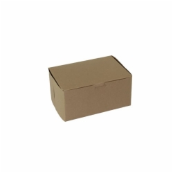 8 x 5.5 x 3 NATURAL KRAFT ONE-PIECE BAKERY BOXES