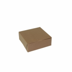 8 x 8 x 3 NATURAL KRAFT ONE-PIECE BAKERY BOXES