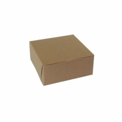 9 x 9 x 4 NATURAL KRAFT ONE-PIECE BAKERY BOXES