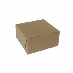 10 x 10 x 5 NATURAL KRAFT ONE-PIECE BAKERY BOXES