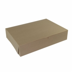 19 x 14 x 4 (1/2 SHEET) NATURAL KRAFT ONE-PIECE BAKERY BOXES