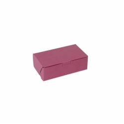 6 x 4 x 2 STRAWBERRY PINK ONE-PIECE BAKERY BOXES
