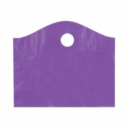18 x 15 x 6 GRAPE FROSTED WAVETOP PLASTIC BAGS