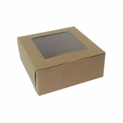 12 x 12 x 5 NATURAL KRAFT WINDOWED BAKERY BOXES