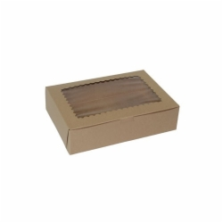 10 x 7 x 2.5 NATURAL KRAFT WINDOWED CUPCAKE BOXES