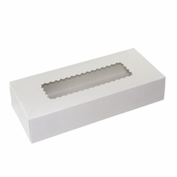12 x 5 x 2 WHITE WINDOWED BAKERY BOXES