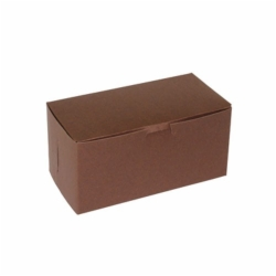 8 x 4 x 4 CHOCOLATE ONE-PIECE BAKERY/CUPCAKE BOXES